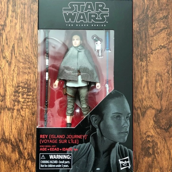 "Star Wars 6"" Scale Black Series #58 ISLAND JOURNEY REY Sealed New In Box"